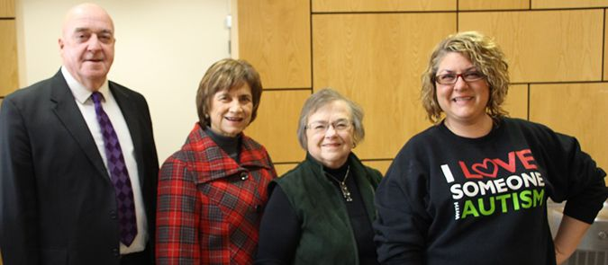 Mayor Keith Hobbs; Councillor Linda Rydholm; Ollie Sawchuck, Chair, Official Recognition Committee; Dana Larrette, 2017 award recipient  Lake Superior News