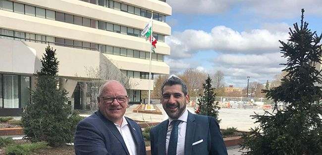 MPP Ross Romano was in Sudbury  with Mayor Brian Bigger