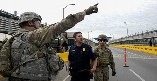 Soldiers from Ft. Riley, Kansas, work alongside with U.S. Customs and Border Protection officers and Border Patrol agents at the Hidalgo, Texas, port of entry, to strengthen areas along the border   Lake Superior News