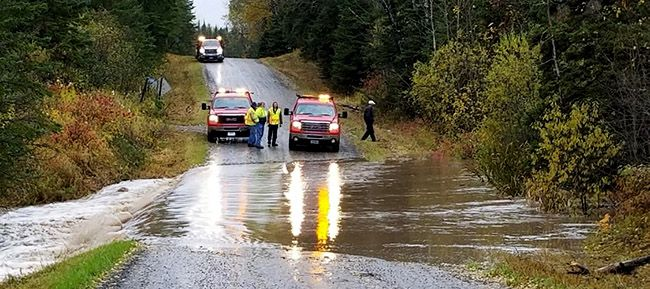 Emergency Road Closure on the North Rd - Water Over Road  Lake Superior News