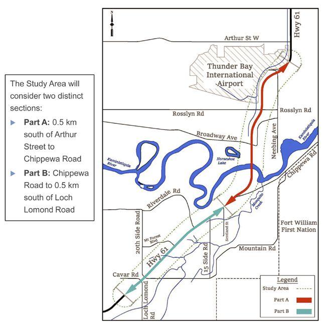 Highway 61 from Arthur street to Lochlond Road  Lake Superior News