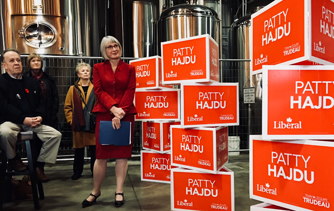 Patty Hajdu  to carry  the Liberal Banner Thunder Bay-Superior North  Lake Superior News