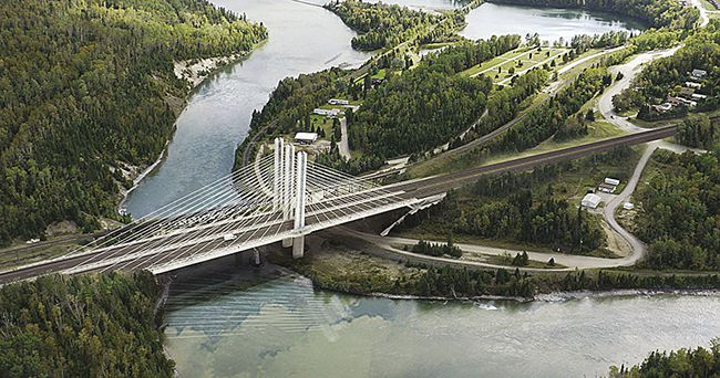 Protest on the Nipigon River Bridge Caribou  Lake Superior News