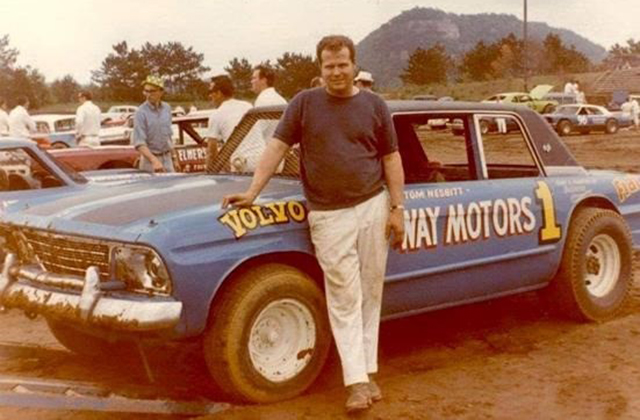 Tom Nesbitt with his 1965 Studebaker 1969 & 70 Late Model Champ