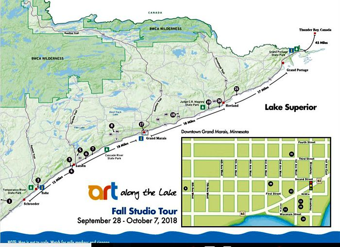 Art Along the Lake Map  Lake Superior News