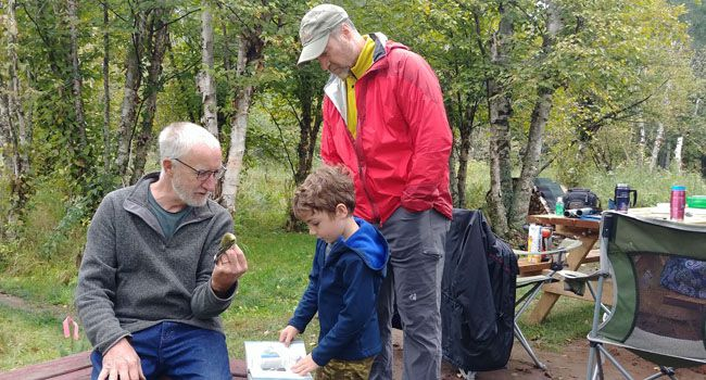 McKellar Bird Observatory John, Noah and his dad studying birds   Lake Superior News
