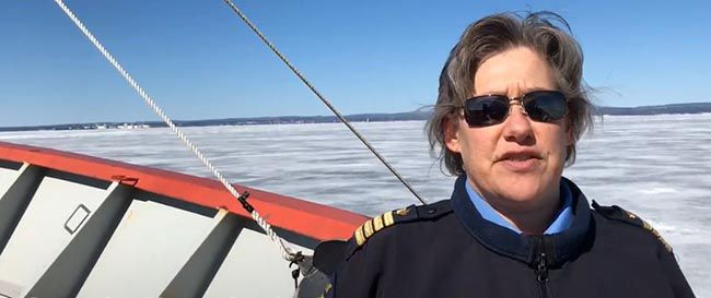 Captain Signe Gotfredsen Canadian Coast Guard Ship Samuel Risley