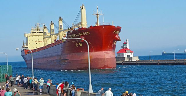 Federal Weser  Port of Duluth  Lake Superior News