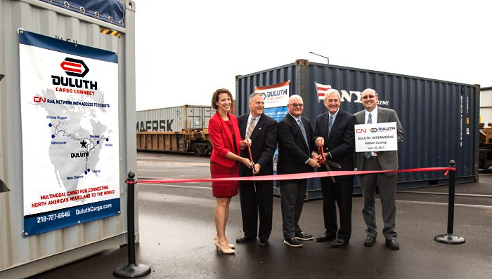 CN & Duluth Cargo Connect officially open Intermodal Terminal  Lake Superior News