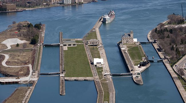 Poe Lock Rendering 2010  Lake Superior News