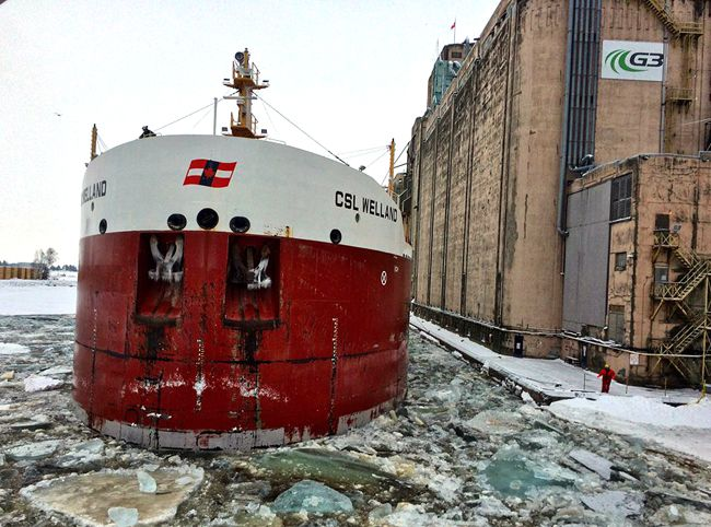 M.V. CSL Welland   Opens Navigation  Lake Superior News