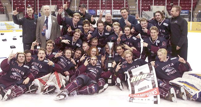 Dryden GM Ice Dogs  win SIJHL Bill Salonen Cup  Lake Superior News