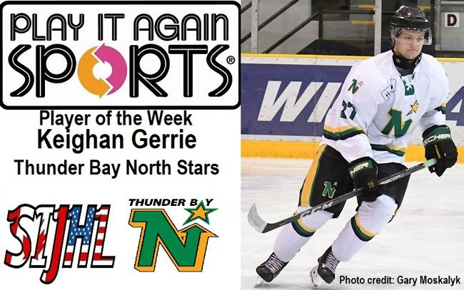 Player of the Week Keighan Gerrie of North Stars Lake Superior News