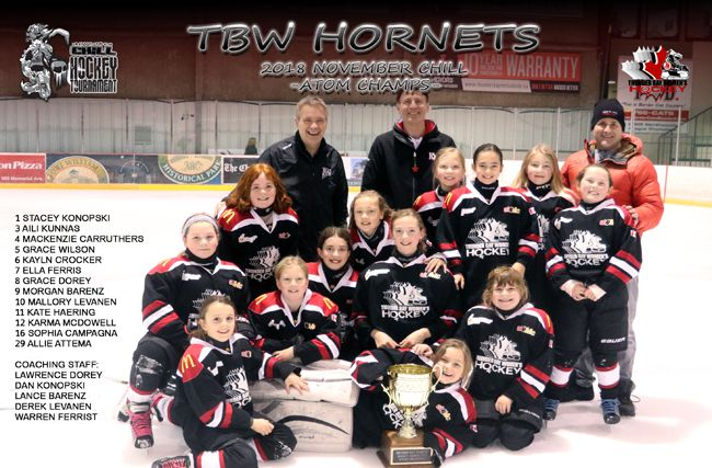 Atom Championship  Thunder Bay Women's Hockey Association Annual Chill Hockey Tournament  Lake Superior News