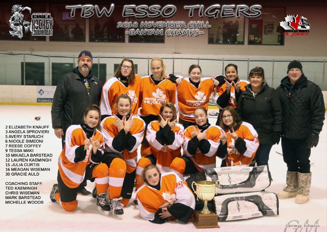Bantam Championship  Thunder Bay Women's Hockey Association Annual Chill Hockey Tournament  Lake Superior News