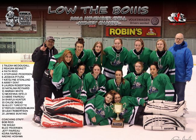 Midget Championship Thunder Bay Women's Hockey Association Annual Chill Hockey Tournament  Lake Superior News