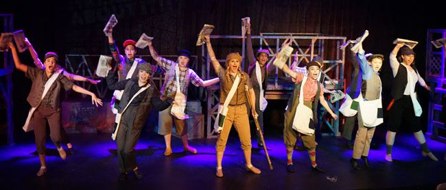 Extra, Extra! Newsies above the fold production Paramount Theatre Lake Superior News