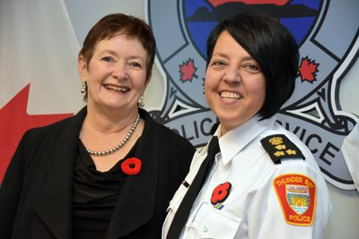 First Felmale Police Chief of Thunder Bay