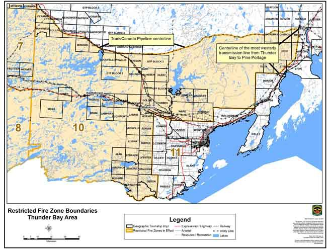 Restricted Fire Zone  Northwestern Ontario  Lake Superior News