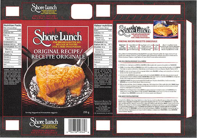 Shore Lunch brand Fish Breading/Batter Mix recalled   Lake Superior News