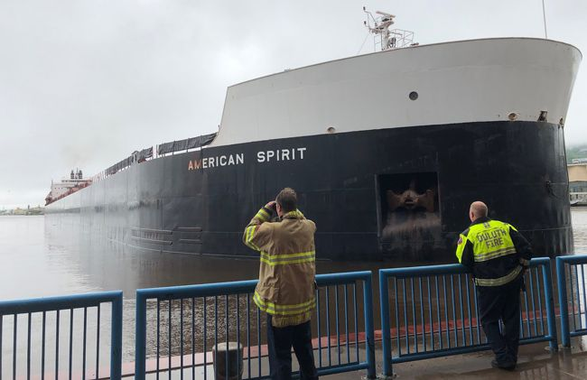American Spirit Aground Duluth  Lake Superior News